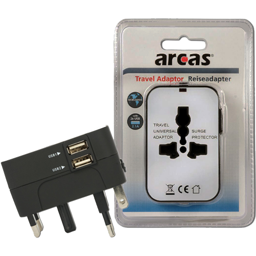 Universal Travel Adaptor Arcas 100V-240V